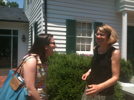 Carla Jones laughing with MSI professor, Tanya Denckla Cobb.