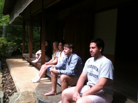 Students looking oh-so-zen in the Japanese Garden!