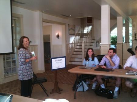 "Marga Odahowski teaching MSI students about ""mindfulness."""