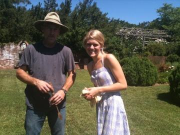 Andy Wyland (Landscape/Property Supervisor at Morven) and me.