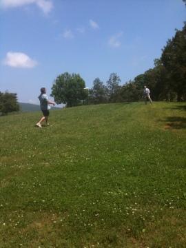 Frisbee-playin' professors! ...They're pretty darn good!